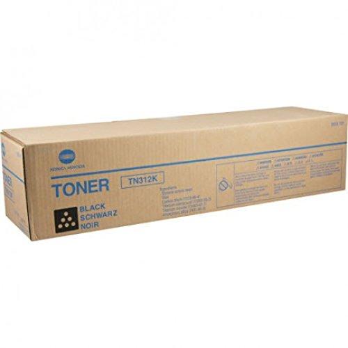 Konica Minolta Genuine Brand Name, OEM 8938701 (8938-701) TN312K (TN-312K) Black Toner (20K YLD) for Bizhub C300, C352 Printers