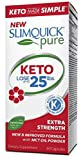Slimquick Pure Keto Extra Strength Caplets, powerful dietary supplement, 60 count, Lose 3x the weight (Packaging May Vary)