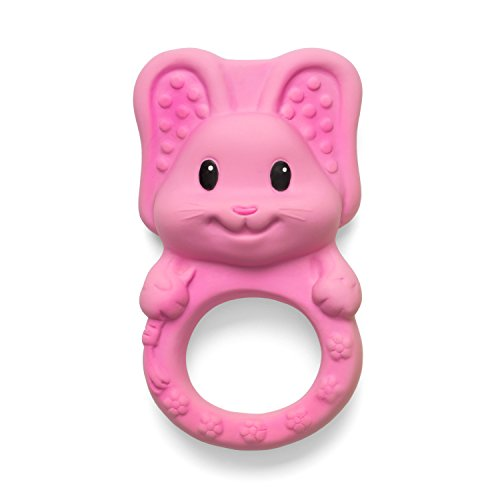 Infantino Squeeze and Teethe Textured Pal, Bunny