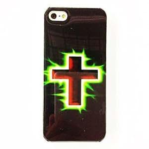CL - Patrón Cross Fire Caso suave de TPU para el iPhone 5/5S , Multicolor