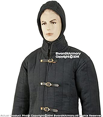 Medieval Thick Padded Gambeson Coat full Sleeves Aketon Jacket SCA LARP