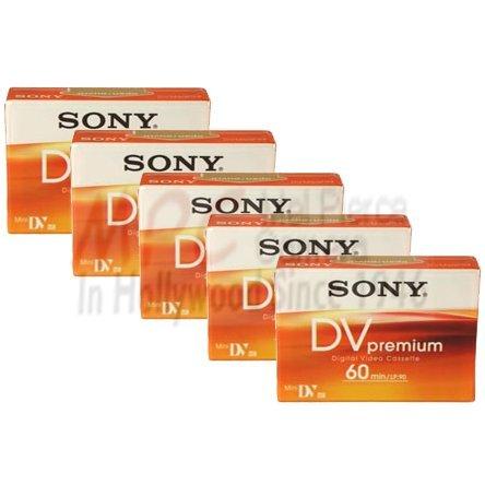 Sony DVM60PR4 Mini DV tape 60 min. Premium (5 Pack) by Sony