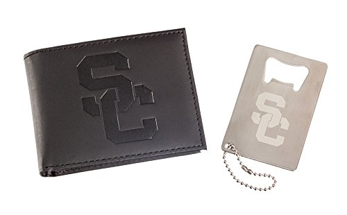 Team Sports America University of Southern California Men's Bi-Fold Wallet Gift Set with Key Chain