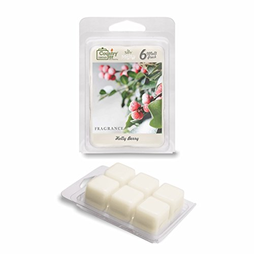 Holly Berry Scent Oil - Country Jar HOLLY BERRY Soy Wax Melts for Warmers - 6 Tart Cubes - - HOT IN JULY SALE! BUY ANY 2 GET 3RD FREE!