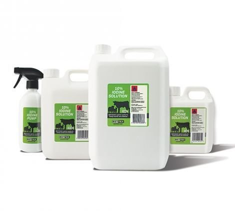Iodine BP 10% Solution - Various Sizes - 2.5 Litre Bottle Ritchey