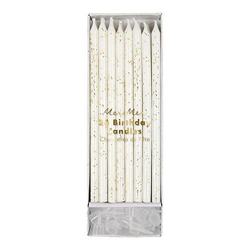 Meri Meri Gold Glitter Candles]()