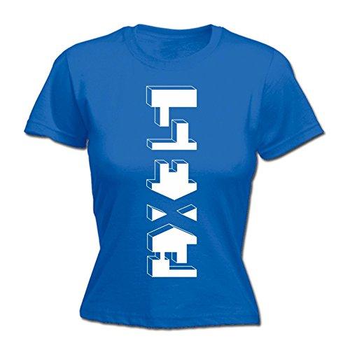 Costume Cucina Paura Un Donne shirt Blu Senza Di Reale T 123t nw1HOqSH