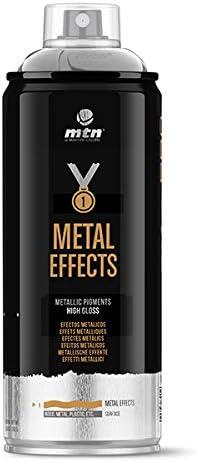 Montana Colors MTN Pro Efectos Metálicos-Plata Cromada, Spray 400ml