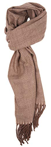 (Love Lakeside-Men's Cashmere Feel Winter Plaid Scarf (One, Brown)