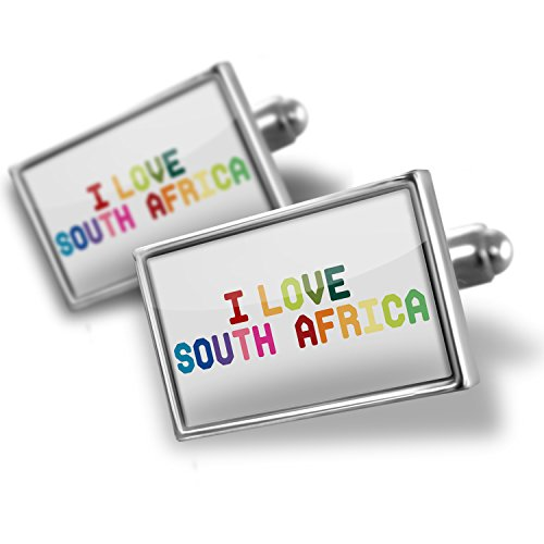 Cufflinks I Love South Africa ,Colorful - Neonblond by NEONBLOND