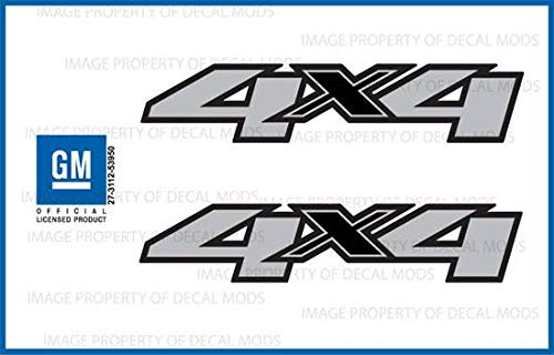 - Chevy Silverado 4x4 Decals Stickers - F (2007-2013) Bed Side 1500 2500 HD (Set of 2)