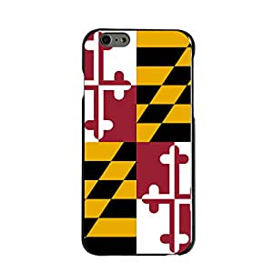 "CUSTOM Black Hard Plastic Snap-On Case for Apple iPhone 6 / 6S (4.7"" Model) - Maryland State Flag"