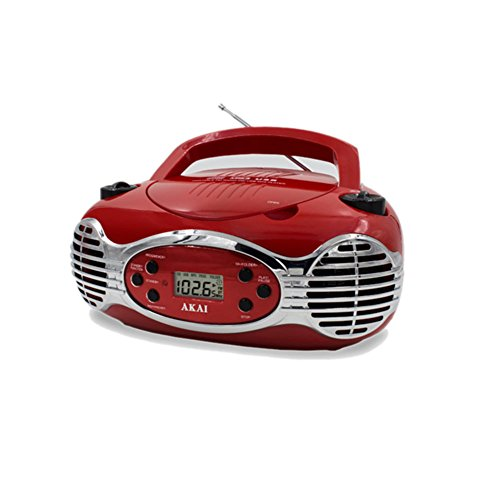 Retro CD Boombox FM PLL Radio-Red Electronic Accessories
