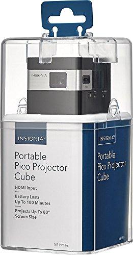 Insignia Portable Pico Projector Cube Black NS-PR116 New
