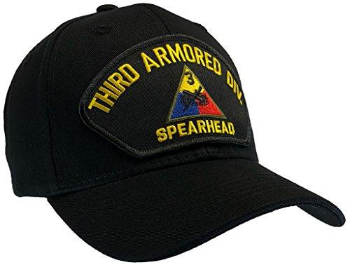 (VET BROTHERS - MILSPEC CLASSICS THIRD ARMORED DIVISION Hat Black Ball Cap 100% Cotton Structured)