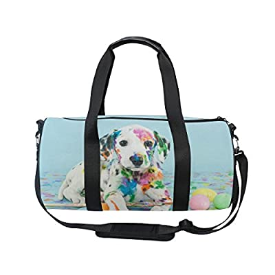 8aca4bbd1e84 durable modeling ALAZA Funny Little Puppy Dog Sports Gym Duffel Bag ...