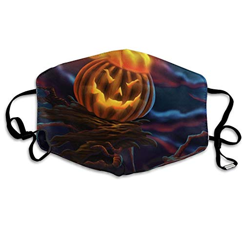 Mouth Masks Halloween Pumpkin Pattern Mouth Masks Unisex Anti-Dust Flu Mouth Mask Fashion Design for Girls Women Boys Men]()