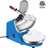 VIVOHOME Electric Ice Crusher Shaver Snow Cone Maker Machine Blue 143lbs/hr for Home and Commerical Use ETL Safety Standard Certified