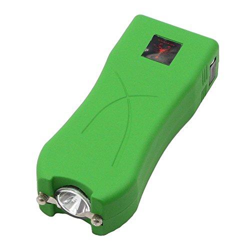 Gun Stun Scorpion - Red Scorpion Mini Stun Gun 398-600 Million Volts Rechargeable with LED Tactical Flashlight (Green)