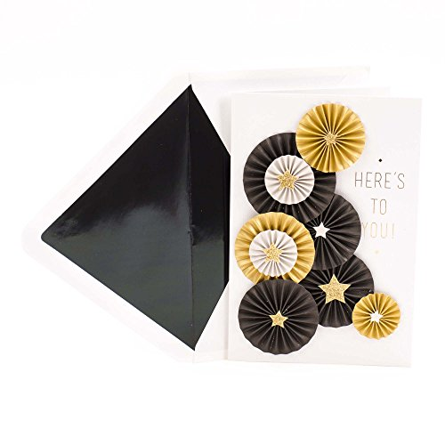 Hallmark Signature Graduation Greeting Card (Folded Paper Medallions with Gold Stars Celebrating You) (Gold Fancy Star)