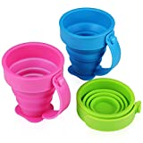 Best Collapsible Cups - Yilove Collapsible Silicone Travel Cups with Handle,Pop up Review