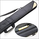 LONG LUXURY THICK PADDED 3pc Cue Case for 3/4 JOINT Snooker Cue & Extension