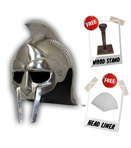 Gladiator Movie Mask - Medieval Gladiator Movie Replica Helmet Warrior