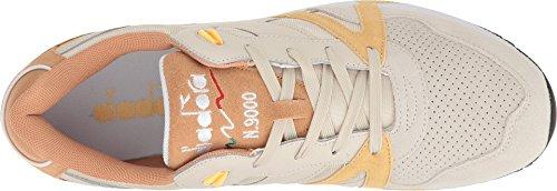 Diadora N9000 Double L Herren Beige Wildleder / Leder Athletic Training Schuhe Mondstrahl / Impala