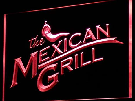 ADVPRO Cartel Luminoso i744-r The Mexican Grills Bar Pub ...