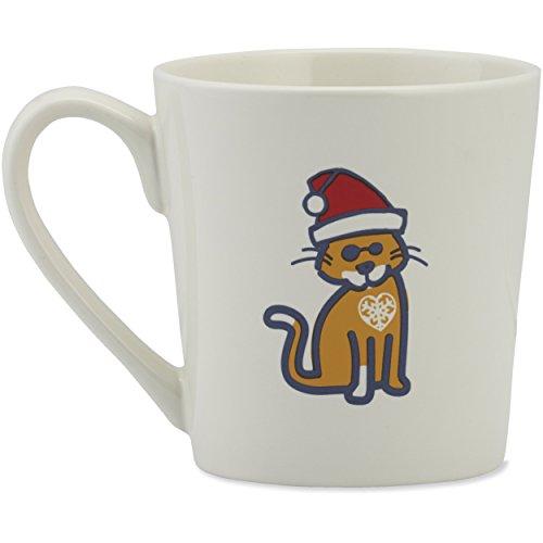Life is good Everyday Mug Snowflake Cat Sunglasses, Cloud White, One Size