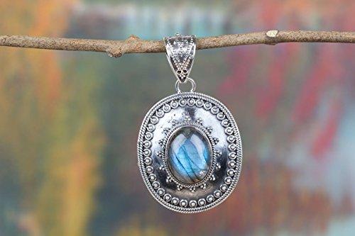 Blue Fire Labradorite Gemstone Pendant, Labradorite Pendant, Wedding Pendant, 925 Sterling Silver Pendant, Boho Pendant, Hippy Pendant, labradorite Jewelry
