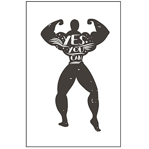 BEAST Fitness Posters Set of four 11×17 CROSSFIT GYM POSTER – Wall Art Motivational Fitness Quotes, Inspirational posters of exercise for Cardio, Calisthenics, Weight Lifting and Spinning
