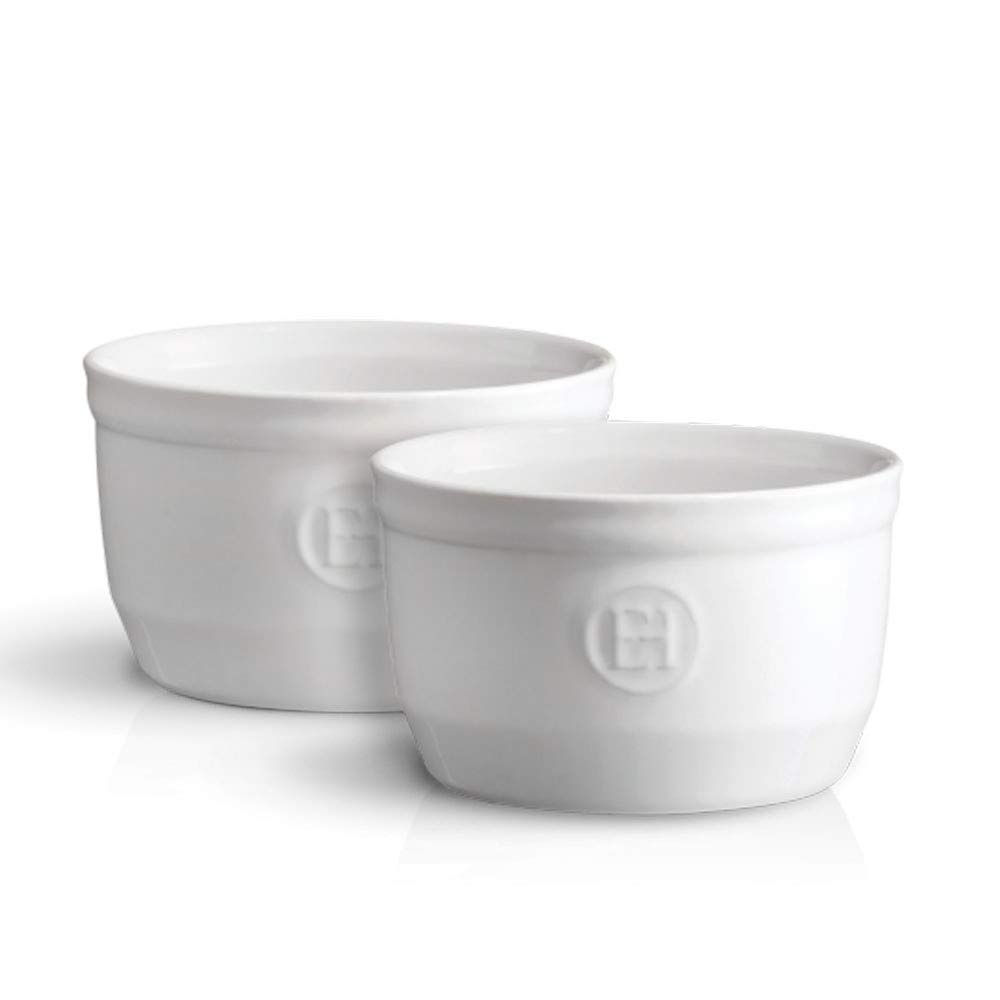 Emile Henry Made in France 8.5 oz Ramekin (Set of 2), 4'' by 2''5', Flour White by Emile Henry