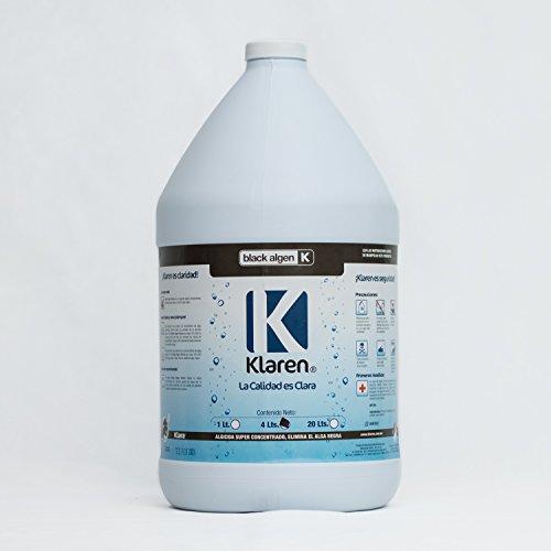 Algicida Black Algen Klaren Químico Para Eliminar Alga Negra de Albercas, Piscinas y Spas. (4 litros)