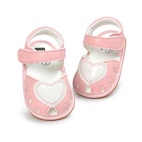 MiyaSudy - Zapatos Planos con Cordones Bebé-Niños Rosa