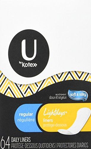 - Kotex Natural Balance Lightdays Liners, Regular -64 ct.