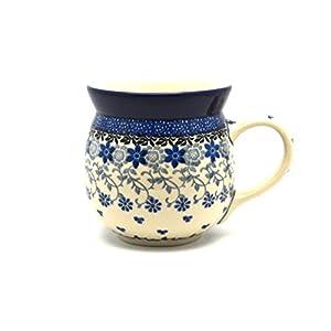 Polish Pottery Mug – 15 oz. Bubble – Silver Lace