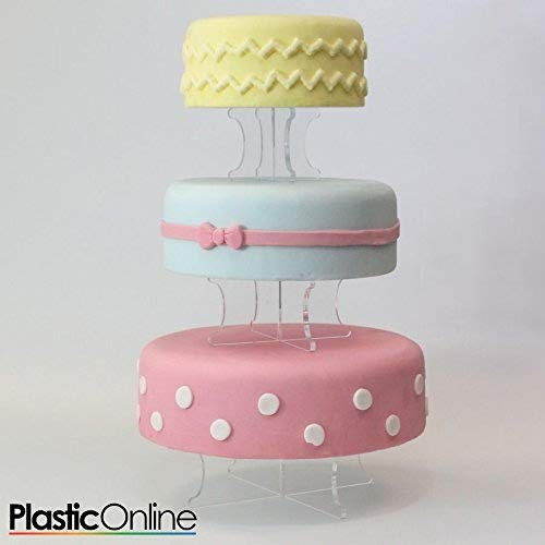 3 Tier Wedding Cake Display Stand Perspex Cake Risers Plastic Online Ltd