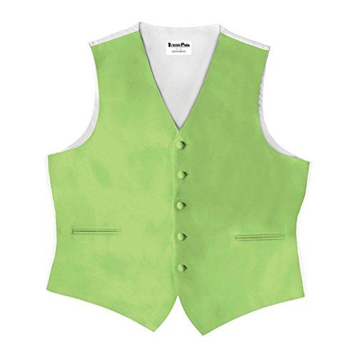 Lime Green Satin 5 Button Full Back Vest