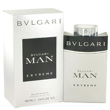 Bvlgari Man Extreme Eau de Toilette Spray for Men, 3.4 Fluid Ounce
