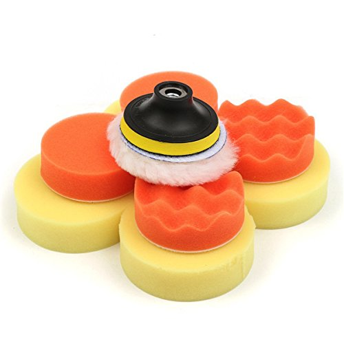 New 6pcs 3 Inch Polishing Buffer Pad with Drill Adapter and Waxing Pads maguires buffer pads ar15 pad meguires dutch glow furniture polish polisher amish wood handmade