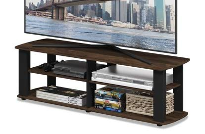 Tv Stands For Flat Screens 42 - Columbia Walnut Black Wood with Shelves - Display Your TV in - Screen 32 Sale On Inch Tvs Flat