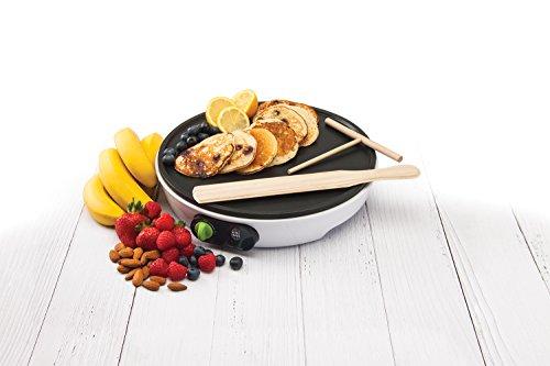 NUTRI SNACK - Premium Crepe and Pancake Maker 1000W I Includes Recipes,...