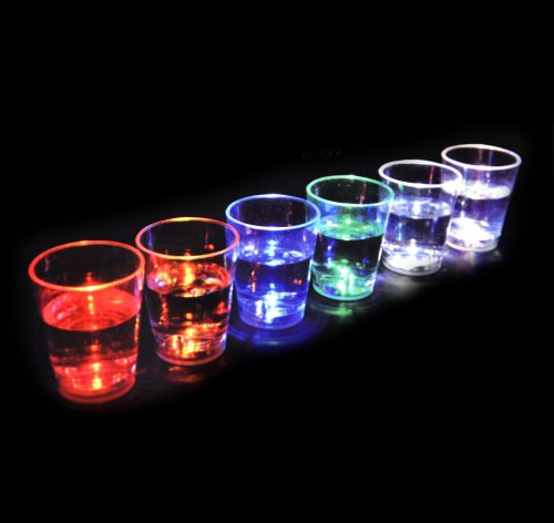 Glow Shot Glass (Aqua Glow - 6 Liquid Activated Shot Glasses)