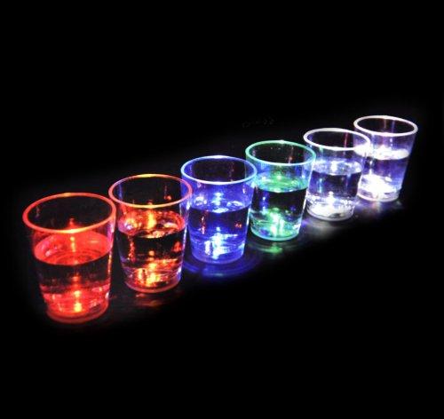 Aqua Glow - 6 Liquid Activated Shot Glasses