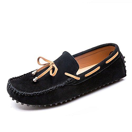 Verano Resistentes Hombres Zapatos Ocio conducción de para Desgaste al Desodorante Negro de de F5BqOTw