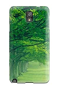 Rugged Skin Case Cover For Galaxy Note 3- Eco-friendly Packaging(awesome Green Nature )