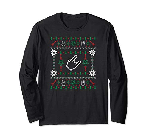 Heavy metal ugly Christmas sweater long sleeve t-shirt