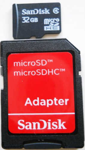 - SanDisk 32GB microSDHC Card w/ SD & miniSD Adapter (SDSDQ-032G-2ADP)