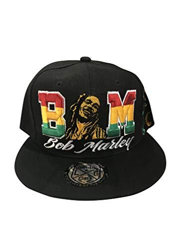 (Bob Marley Leader Rasta Lion Black Era Snapback Hat)